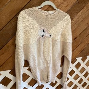 Vintage Lillie Rubin fox sweater size Small